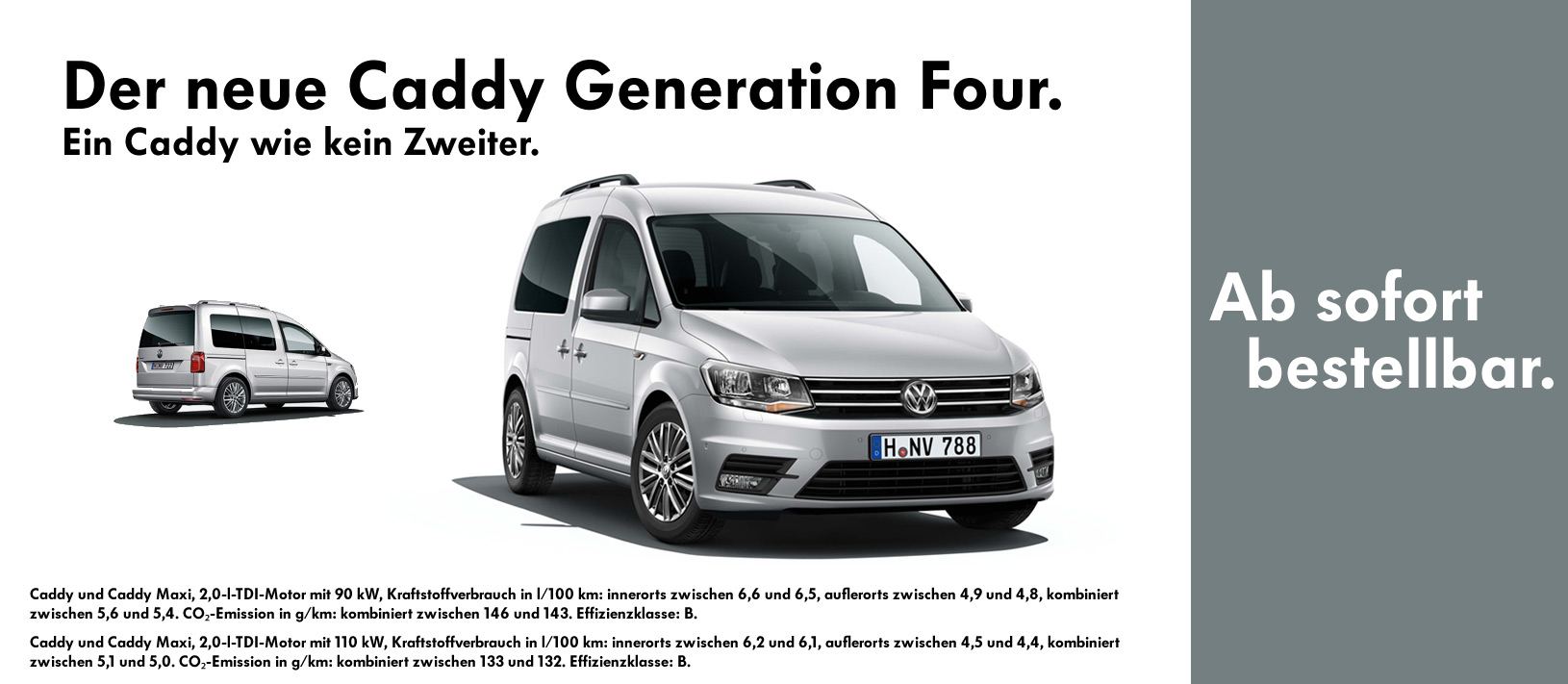 VW Caddy Generation Four.